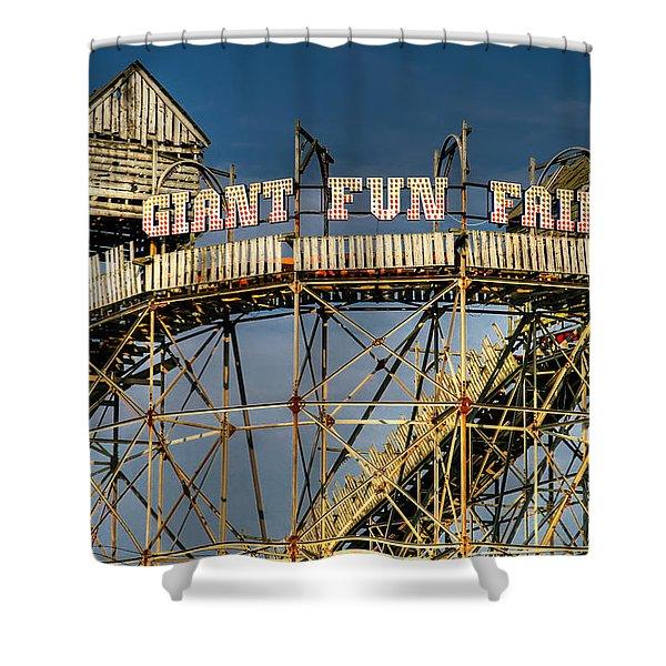 Giant Fun Fair Shower Curtain by Adrian Evans