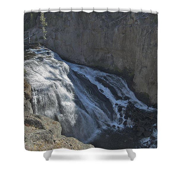 Gibbon Falls 9472 Shower Curtain by Michael Peychich