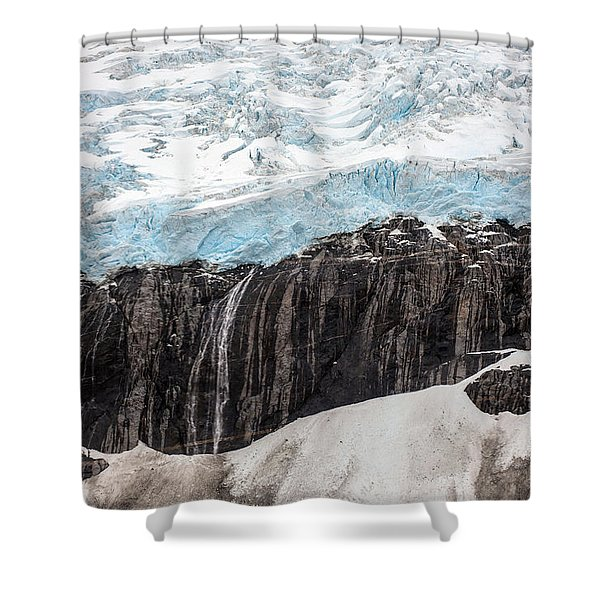 Glacial Edge Waterfall Shower Curtain by Mike Reid