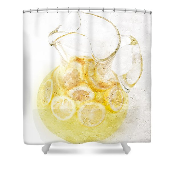 Glass Pitcher Of Lemonade Shower Curtain by Andee Design