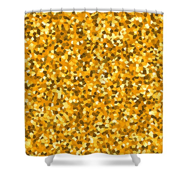 Golden Sprinkle Shower Curtain by Sumit Mehndiratta