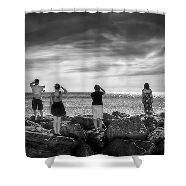 Goodbye Miss Lonely Hearts Shower Curtain by Evelina Kremsdorf