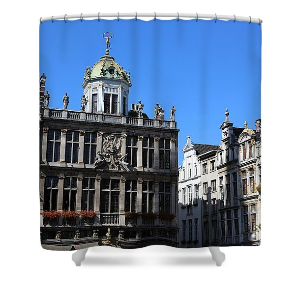 Grand Place Buildings Shower Curtain by Carol Groenen