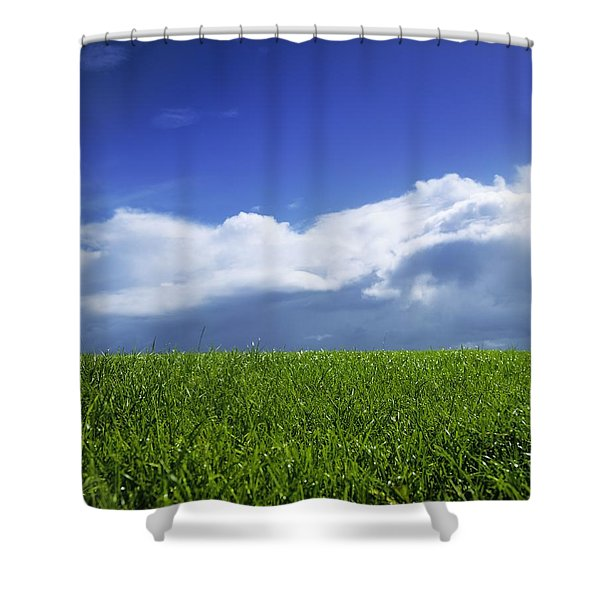 Grass In A Field, Ireland Shower Curtain by The Irish Image Collection