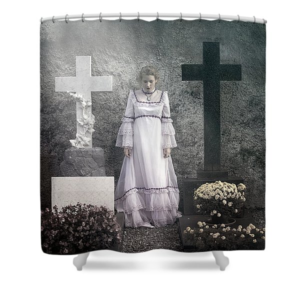 graves Shower Curtain by Joana Kruse