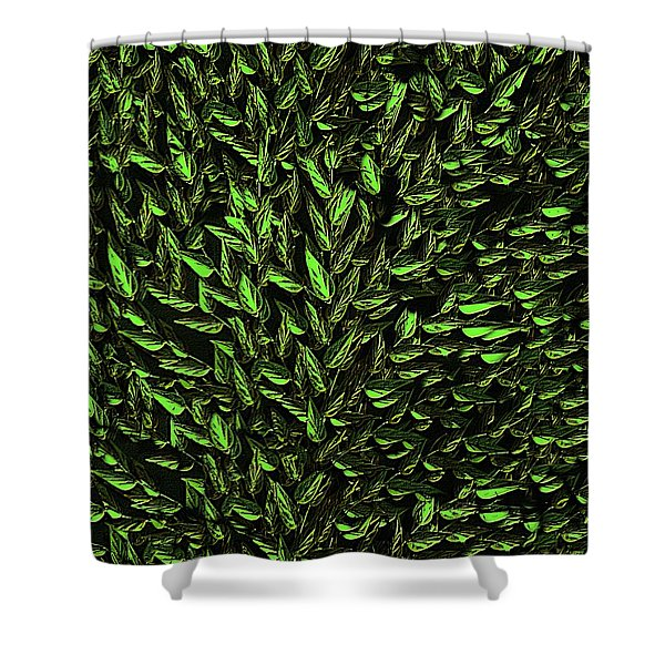 Green Leaf Shower Curtain by David Dehner