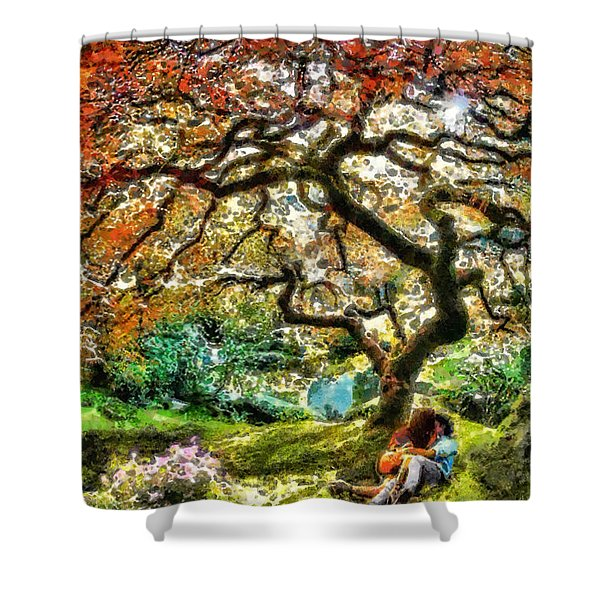Growing Shower Curtain by Mo T
