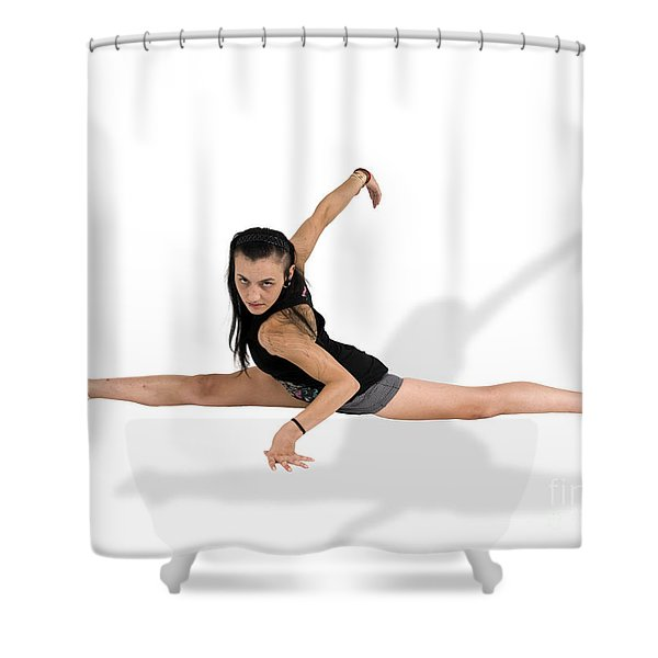 gymnast does the splits  Shower Curtain by Ilan Rosen