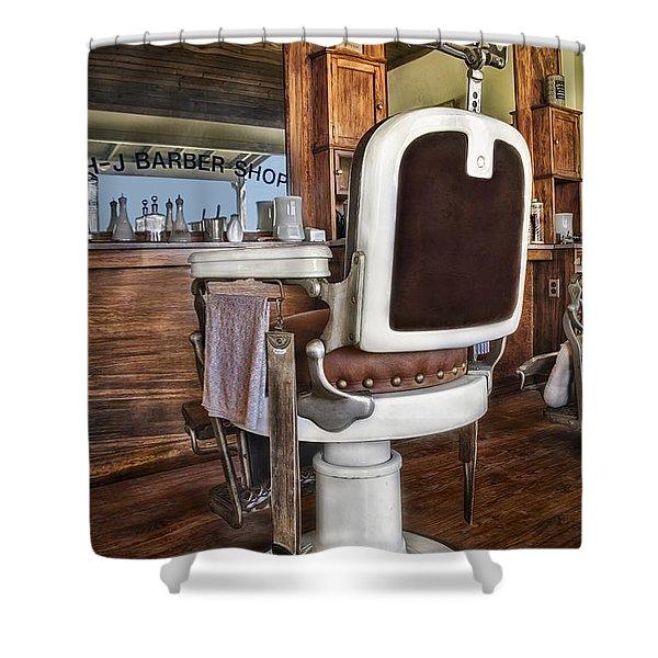 H J Barber Shop Shower Curtain by Susan Candelario
