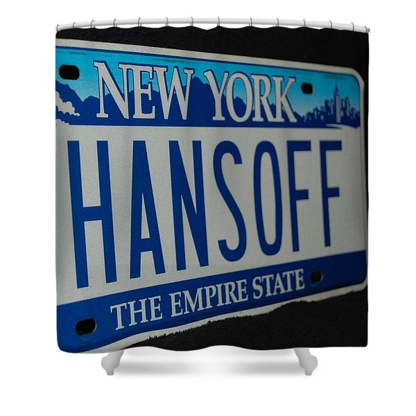 Hans Off Shower Curtain by Rob Hans