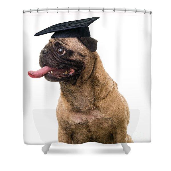 Happy Graduation Shower Curtain by Edward Fielding