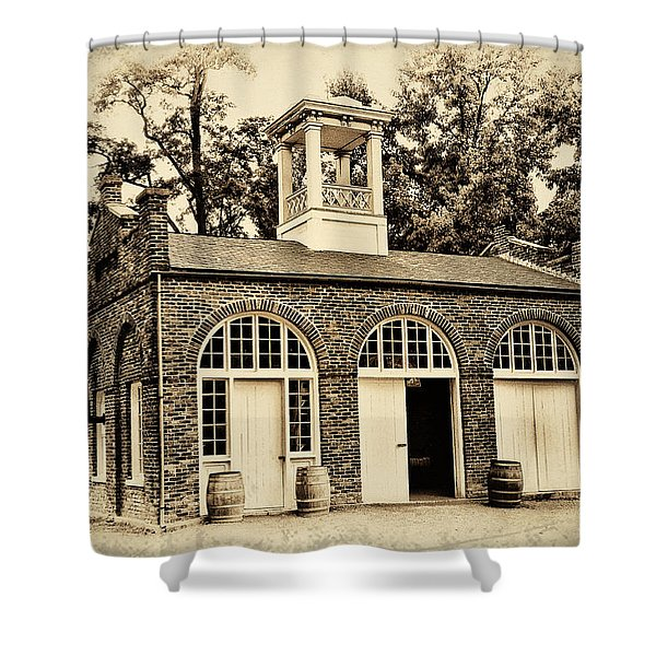 Harpers Ferry Armory Shower Curtain by Bill Cannon