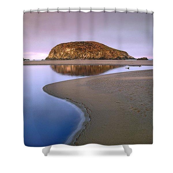 Harris Beach State Park Oregon Shower Curtain by Tim Fitzharris