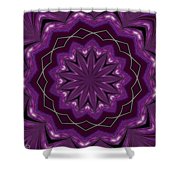 Heather And Lace Shower Curtain by Alec Drake