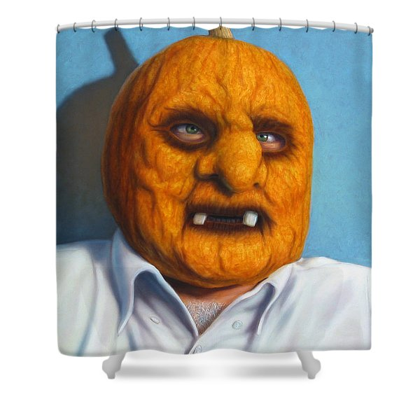 Heavy Vegetable-head Shower Curtain by James W Johnson