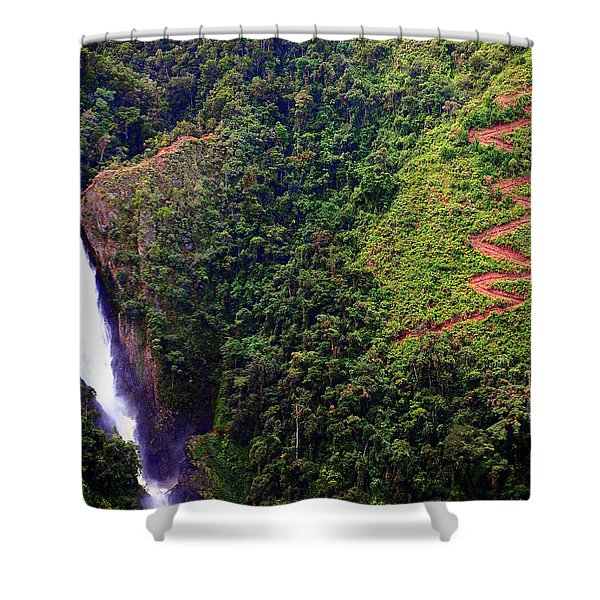 Helix Shower Curtain by Skip Hunt
