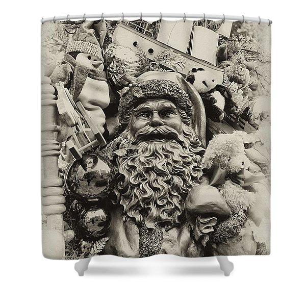 Here Comes Santa Claus Shower Curtain by Bill Cannon