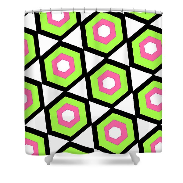 Hexagon Shower Curtain by Louisa Knight
