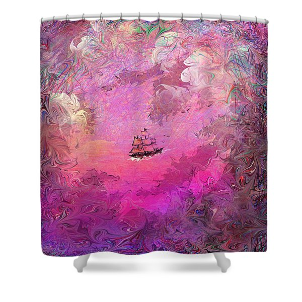 Hidden Treasure Shower Curtain by Rachel Christine Nowicki