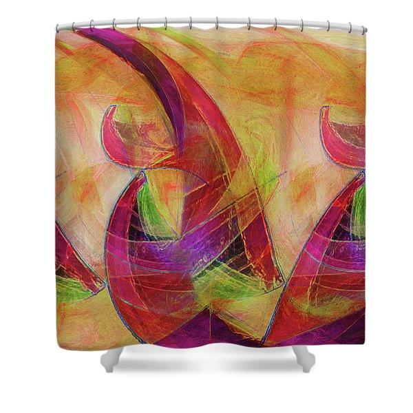 High Vibrational Shower Curtain by Linda Sannuti