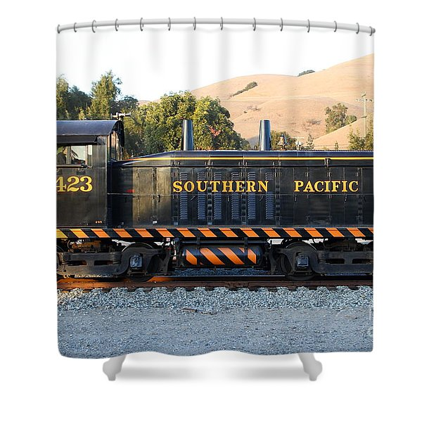 Historic Niles Trains In California . Old Southern Pacific Locomotive . 7d10867 Shower Curtain by Wingsdomain Art and Photography