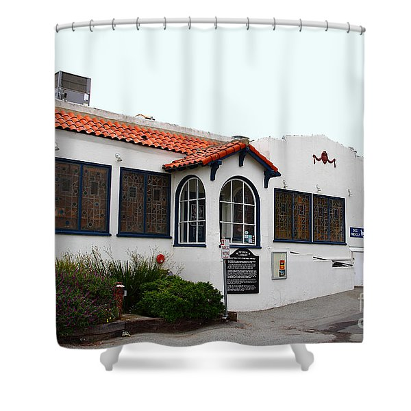 Historical Moss Beach Distillery at Half Moon Bay . 7D8168 Shower Curtain by Wingsdomain Art and Photography