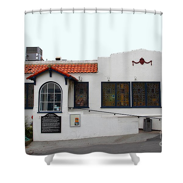 Historical Moss Beach Distillery at Half Moon Bay . 7D8172 Shower Curtain by Wingsdomain Art and Photography