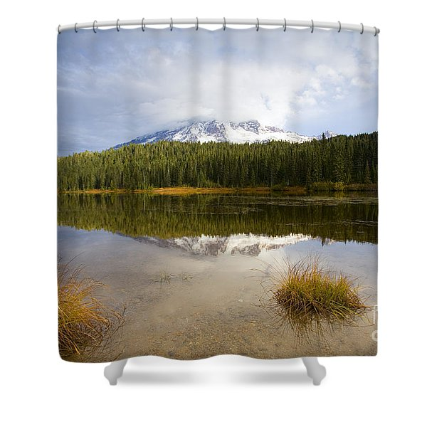 Holding Back The Tempest Shower Curtain by Mike  Dawson