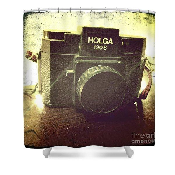 Holga Shower Curtain by Nina Prommer