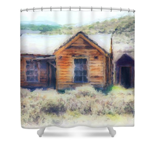 Homestead 3 Shower Curtain by Cheryl Young