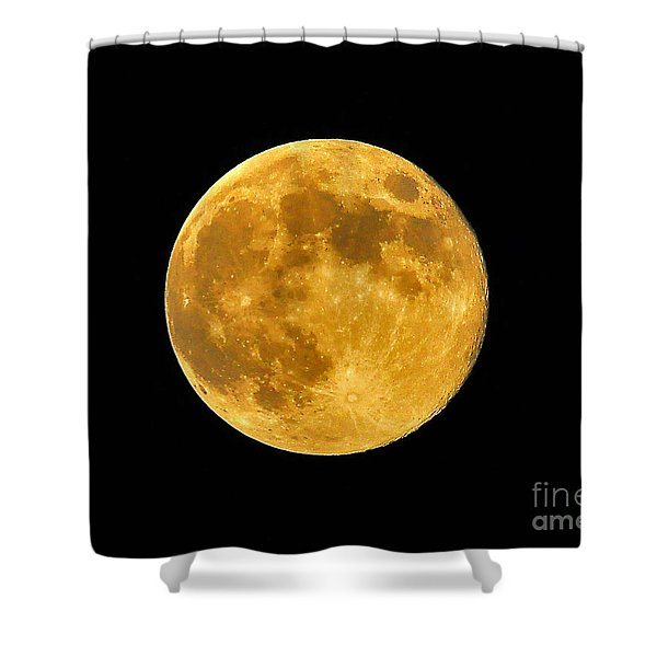 Honey Moon Close Up Shower Curtain by Al Powell Photography USA