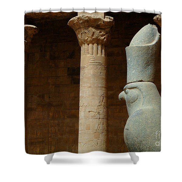 Horus Temple Of Edfu Egypt Shower Curtain by Bob Christopher