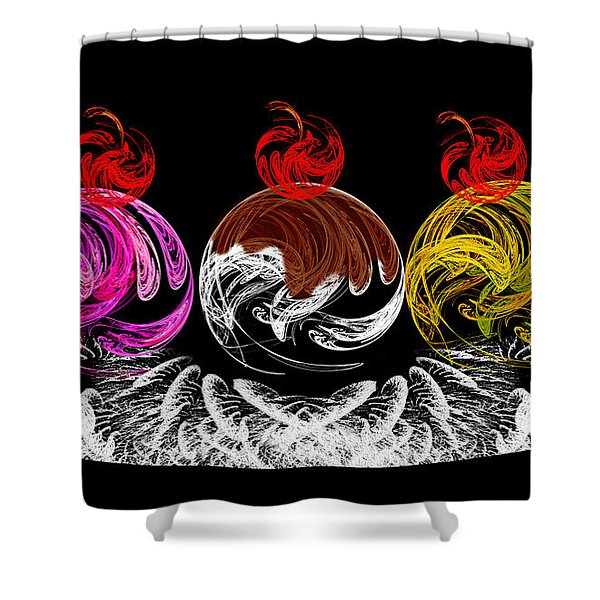 Hot Fudge Ice Cream Boat Shower Curtain by Andee Design