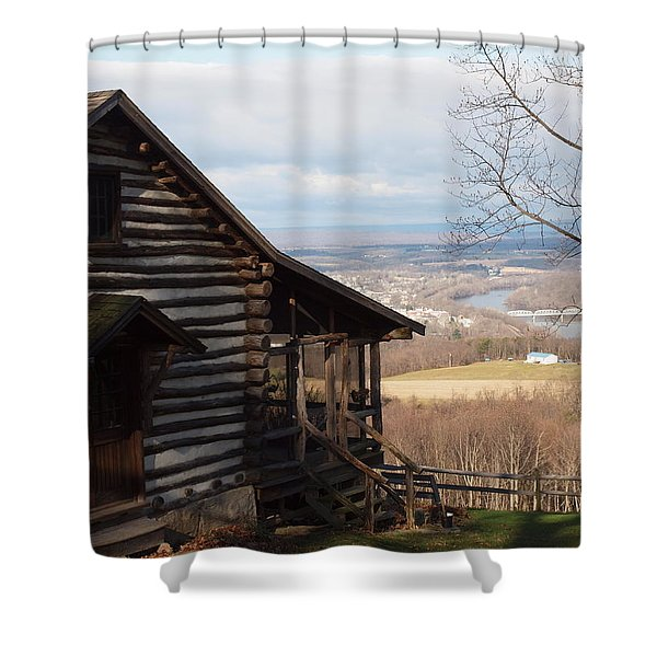House On The Hill Shower Curtain by Robert Margetts