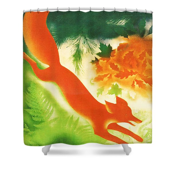 Hunting In The Ussr Shower Curtain by Nomad Art And  Design