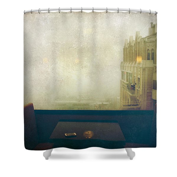 I Just Sat There Staring Out At The Fog Shower Curtain by Laurie Search