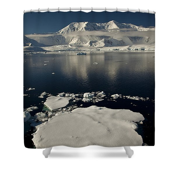 Icefloe In The Neumayer Channel Shower Curtain by Colin Monteath