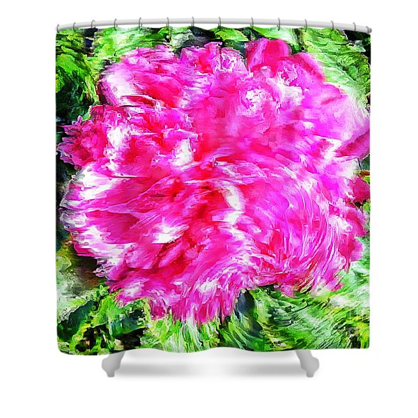 Impressionistic  Peony Shower Curtain by Barbara Griffin
