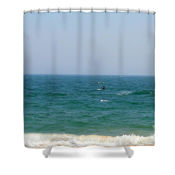 In Between Shower Curtain by Neal  Eslinger