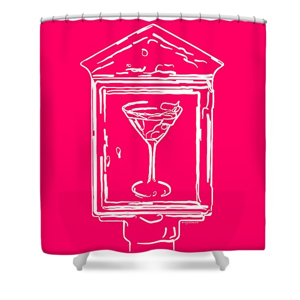 In Case Of Emergency - Drink Martini - Pink Shower Curtain by Wingsdomain Art and Photography
