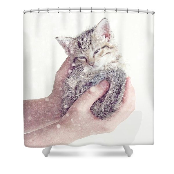 In Safe Hands  Shower Curtain by Amy Tyler
