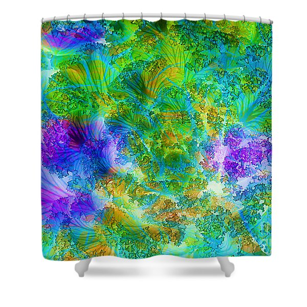 In the Cabbage Patch Shower Curtain by Judi Bagwell
