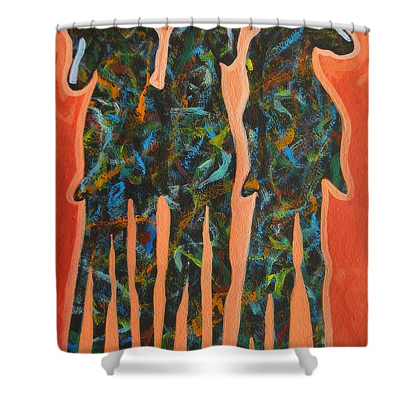 In The Orange Shower Curtain by Lance Headlee