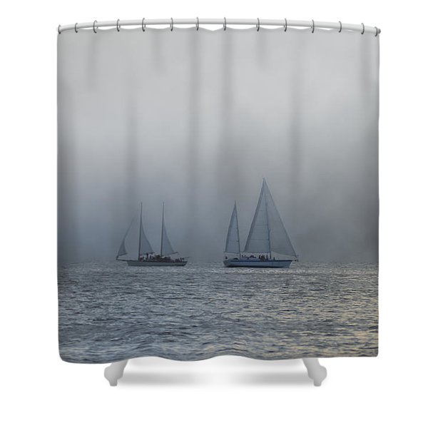 Incoming Fog Bank Shower Curtain by Bill Cannon