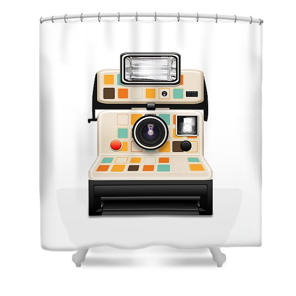 instant camera Shower Curtain by Setsiri Silapasuwanchai