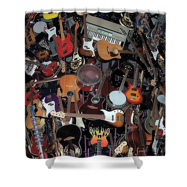 Instruments Shower Curtain by Chalet Roome-Rigdon
