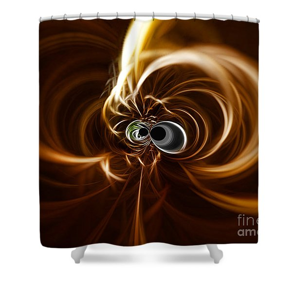 Into The Abyss Shower Curtain by Cheryl Young