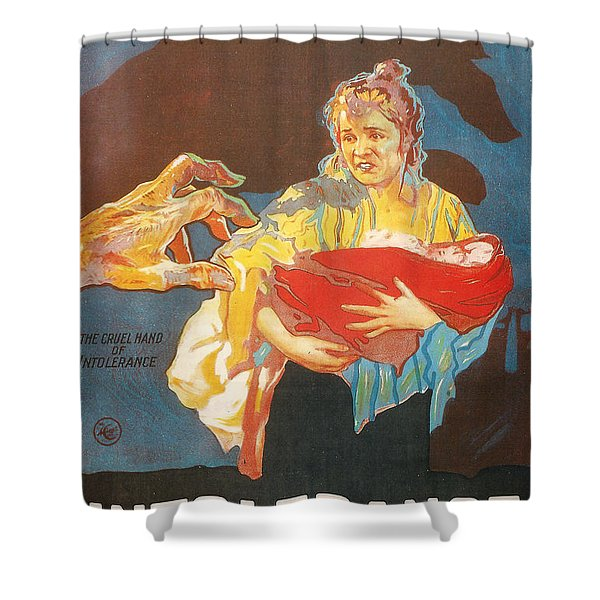 Intolerance Shower Curtain by Nomad Art And  Design