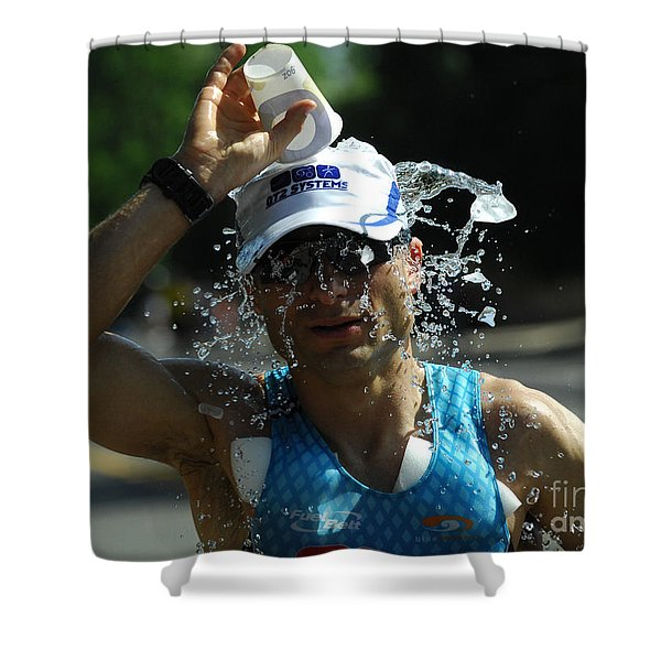 Ironman 2012 A Long Day Shower Curtain by Bob Christopher