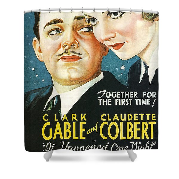 It Happened One Night Shower Curtain by Nomad Art And  Design